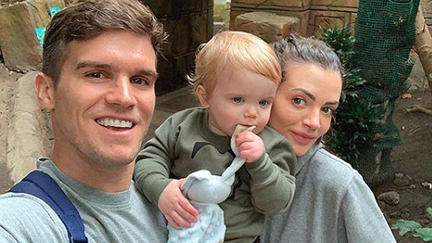 """""""Gordie Shore""""-Star Gaz Beadle mit seinem Sohn Chester und seiner Frau Emma"""