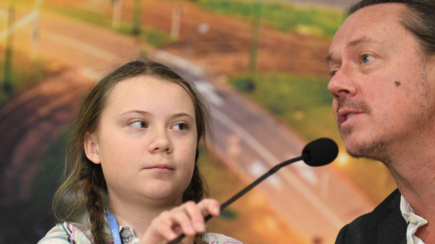 Greta Thunberg und ihr Papa Svante Thunberg, Dezember 2019