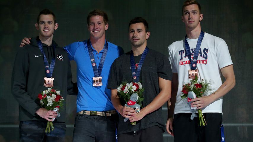 Gunnar Bentz, Jimmy Feigen, Blake Pieroni und Clark Smith, US-Olympia-Team
