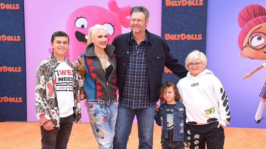 Patchwork-Familie: Gwen & Blake mit Kindern auf Red Carpet