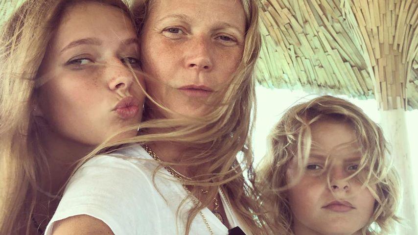 Gwyneth Paltrow mit ihren Kindern Apple und Moses