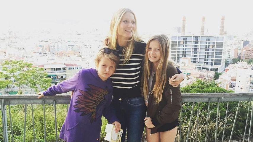 Gwyneth Paltrow mit ihren Kindern Moses und Apple
