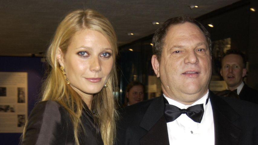 Gwyneth Paltrow und Harvey Weinstein bei der Film-Theater-Gala in London im Oktober 2002