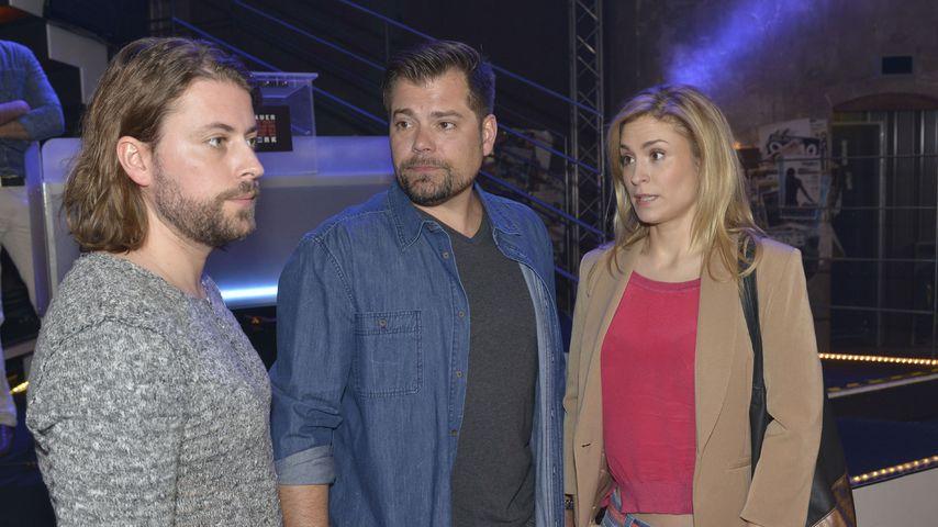 GZSZ-Stars Felix von Jascheroff, Daniel Fehlow und Lea Marlen Woitack