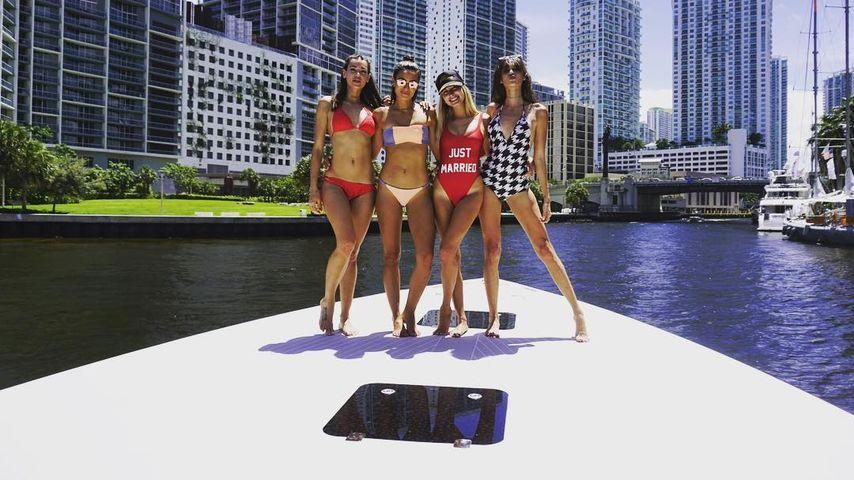 Hailey Baldwin auf einem Boots-Trip mit ihren Freundinnen in Miami