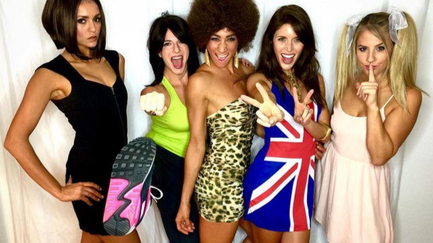 "Perfektes Double: Nina Dobrev verkleidet als ""Posh Spice"""