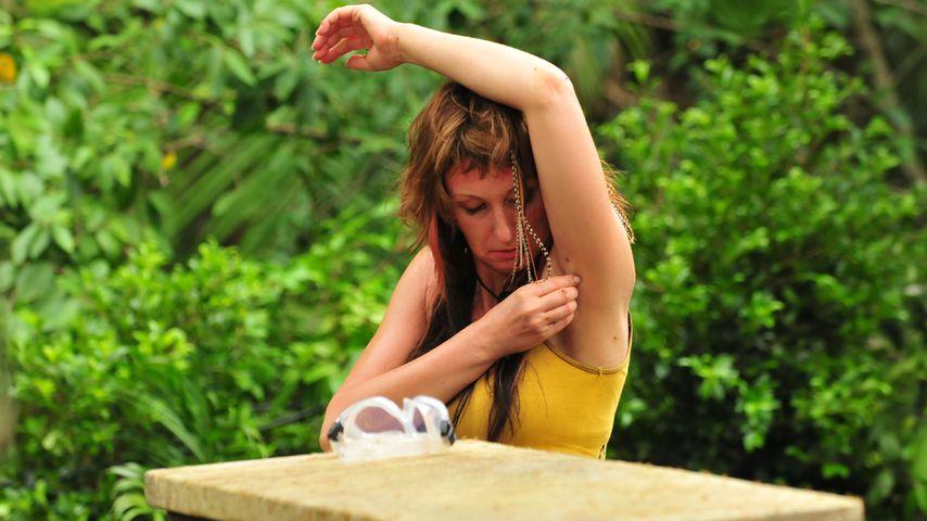 Hanka Rackwitz in einer Dschungelprüfung