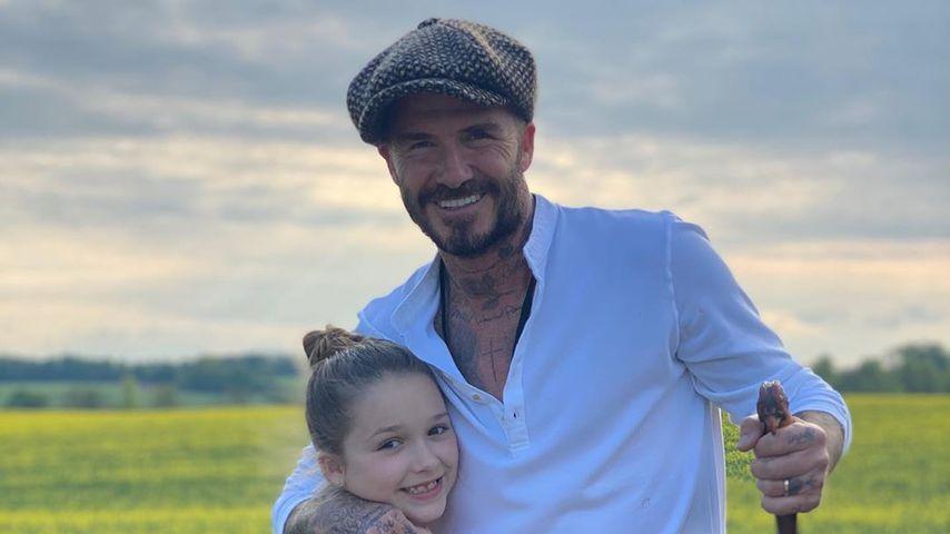 Harper und David Beckham im Mai 2020