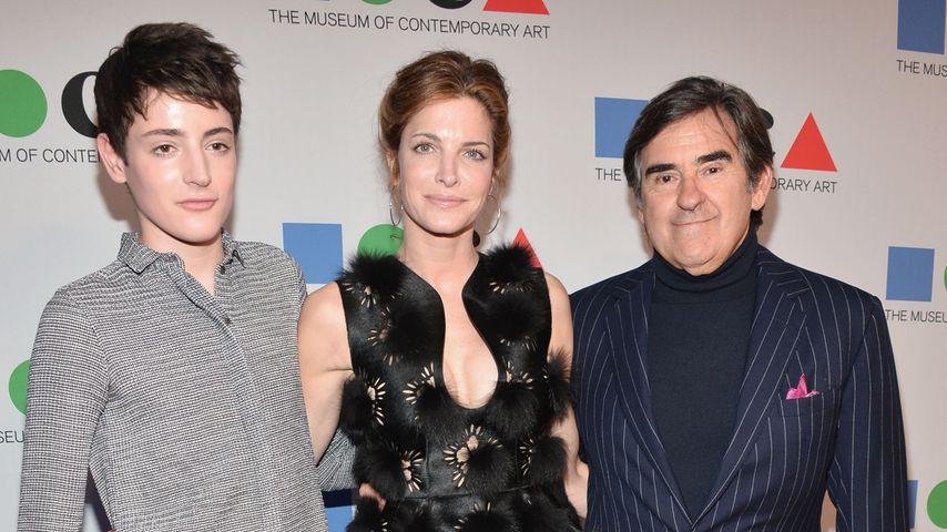 Harry Brant, Stephanie Seymour und Peter Brant auf einer Gala, 2013