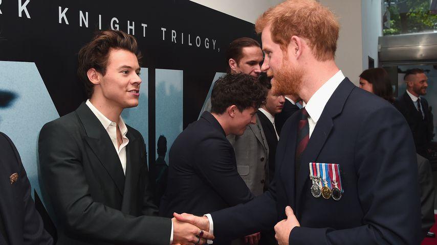 Harry trifft Harry: Der Prinz kommt zu Styles' Filmpremiere