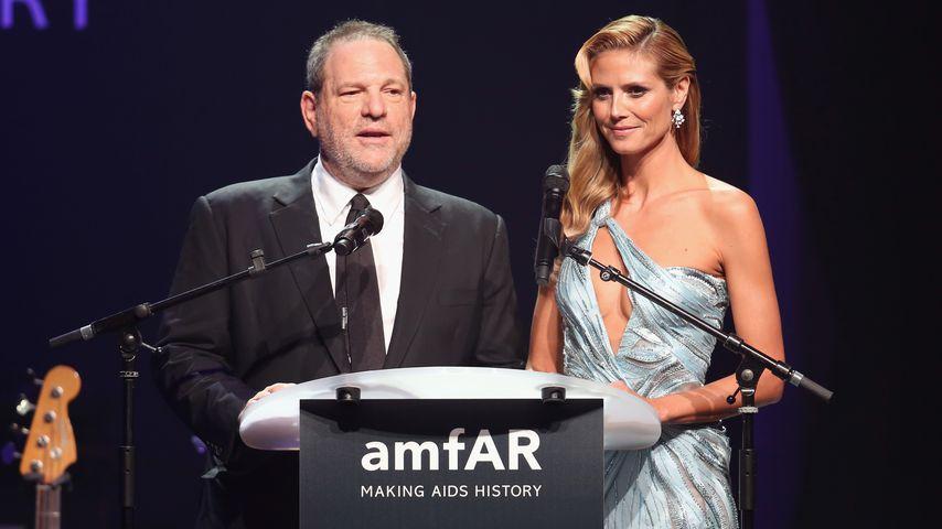 Harvey Weinstein und Heidi Klum auf der amfAR-Gala in Frankreich