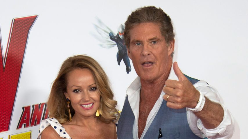 David Hasselhoff: Wilde Knutscherei!