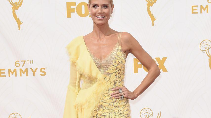 Kanarienvogel-Katastrophe? Heidi Klum im gelben Kleid
