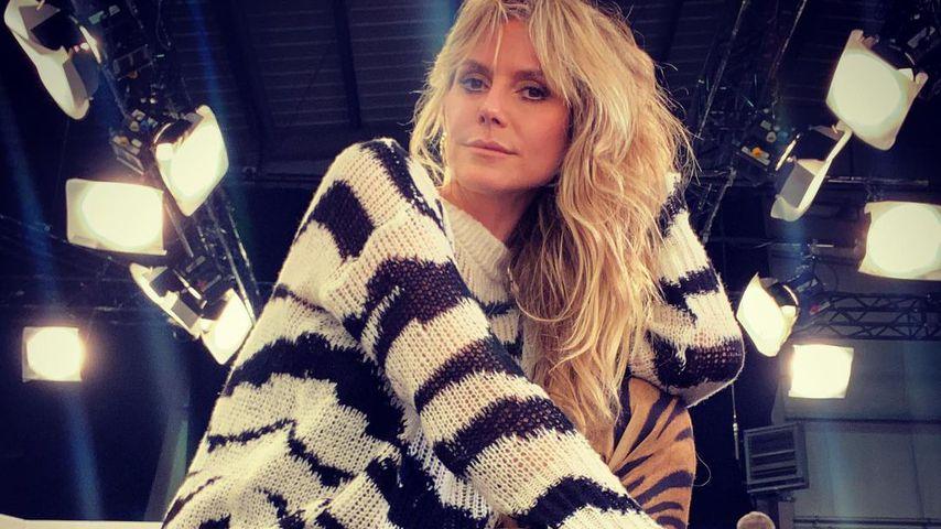 Heidi Klum am GNTM-Set