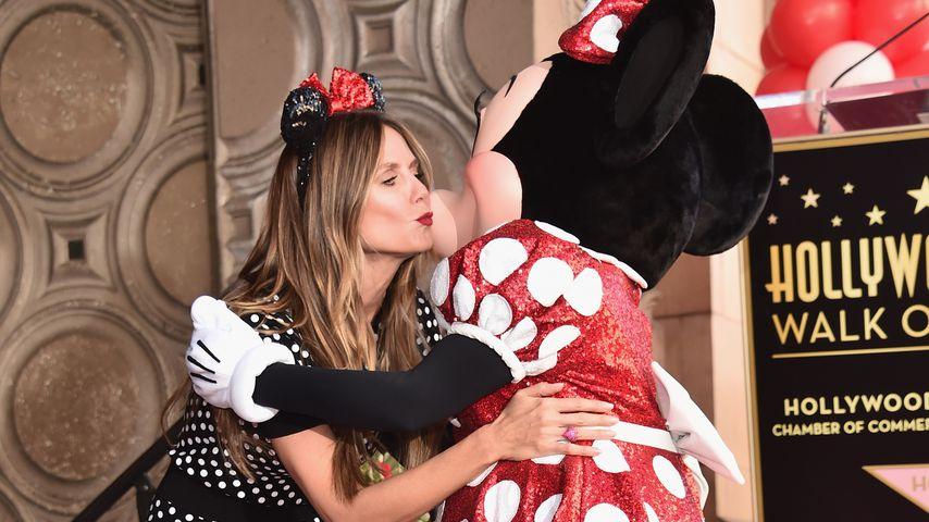 Heidi Klum mit Minnie Maus auf dem Walk of Fame in Hollywood