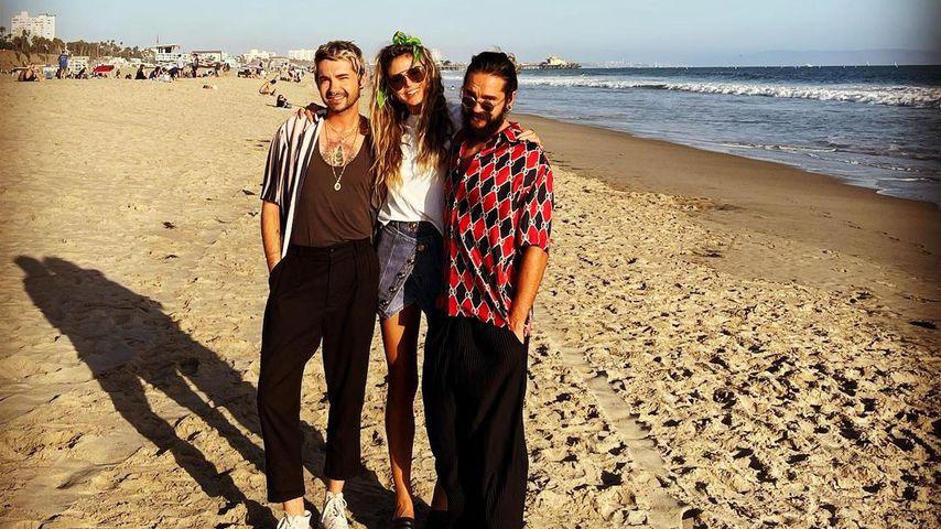 Mal nicht halbnackt: Heidi Klum teilt Foto mit Kaulitz-Twins