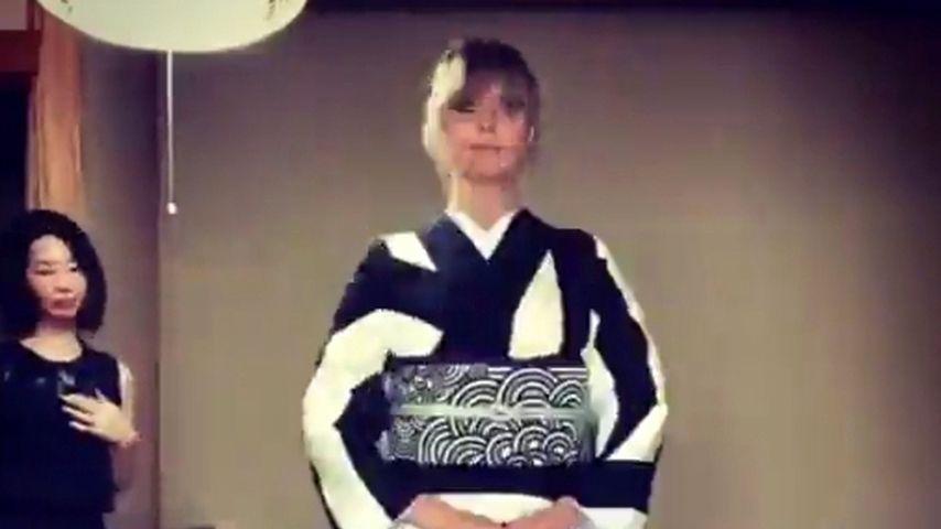 Kultur-Erfahrung: Heidi Klum wird für Kimono-Look gefeiert!