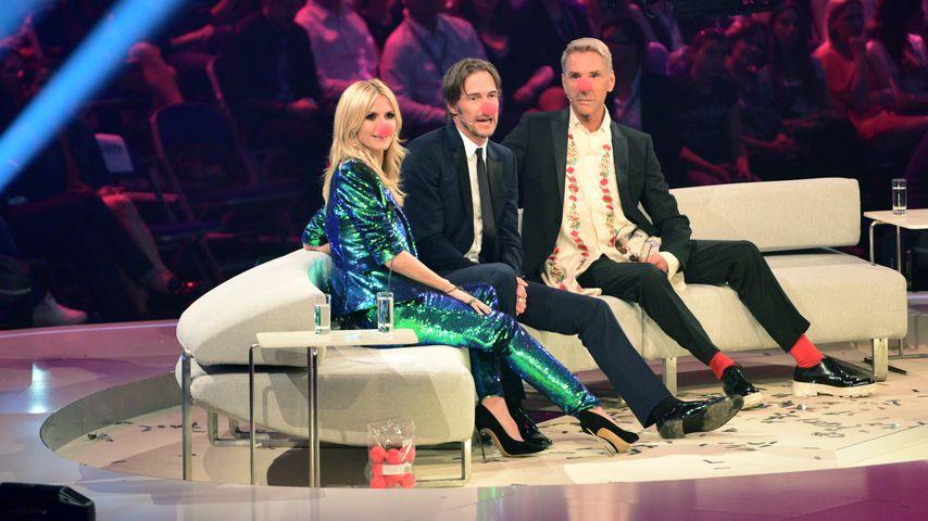 "Heidi Klum, Thomas Hayo und Wolfgang Joop im ""Germany's next Topmodel""-Finale 2015"