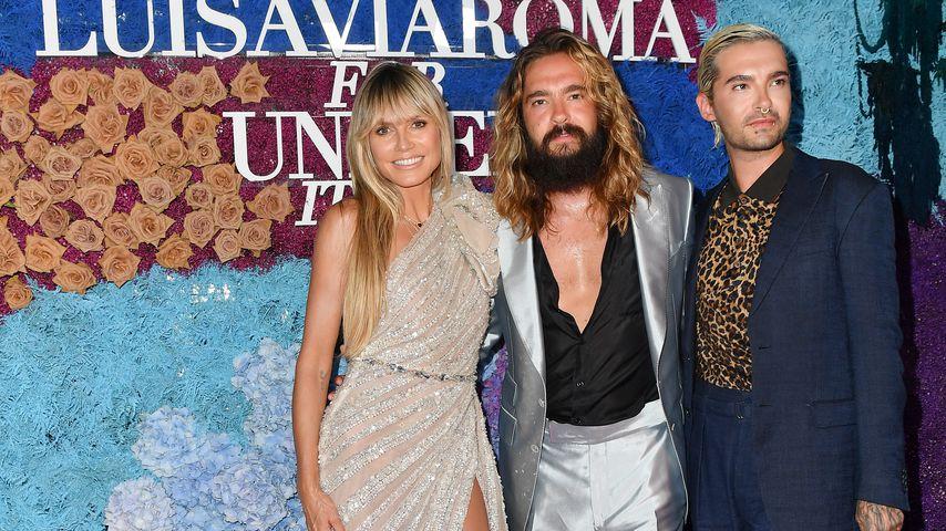 Heidi Klum mit Tom und Bill Kaulitz bei einer Spendengala auf Capri