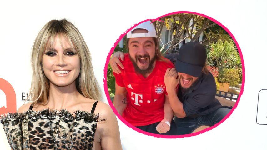 Voll im Fußballfieber: Heidi und Tom jubeln mit Thomas Hayo