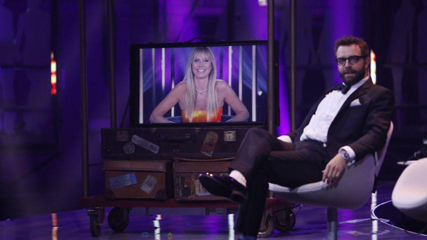 """Heidi Klum und Christian Schuller beim Finale von """"Germany's next Topmodel"""", Mai 2020"""