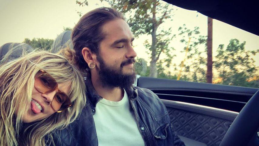 Total verliebt: Heidi Klum und Tom knutschend beim Shopping