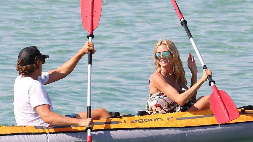 Heidi Klum und Vito Schnabel beim Kanufahren Saint-Tropez