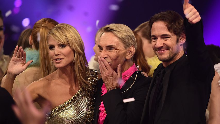 """Heidi Klum, Wolfgang Joop und Thomas Hayo im Mai 2014 bei """"Germany's next Topmodel"""""""