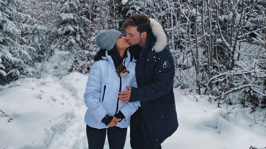 Knutschend im Schnee: Heiko Lochmann teilt erstes Paar-Pic