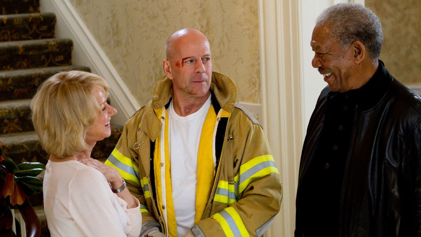 """Helen Mirren, Bruce Willis und Morgan Freeman in """"R.E.D. – Älter. Härter. Besser."""""""
