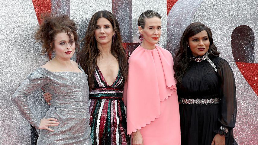 "Helena Bonham Carter, Sandra Bullock, Sarah Paulson und Mindy Kaling auf der ""Ocean's 8""-UK-Premiere"