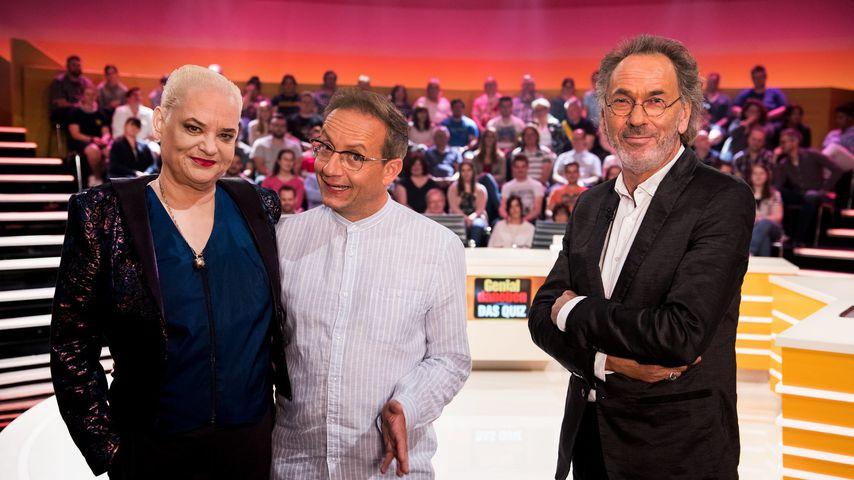 """Hella von Sinnen, Wigald Boning und Hugo Egon Balder bei """"Genial Daneben"""""""