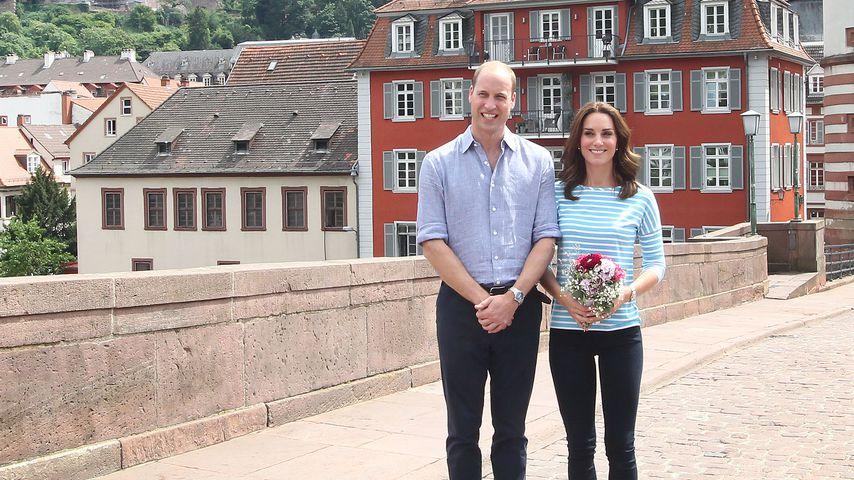 Herzog William und Herzogin Kate in Heidelberg