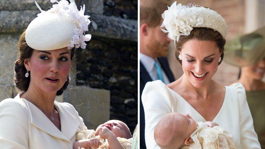 Zweites Mal in Weiß: Herzogin Kate strahlte bei Louis' Taufe