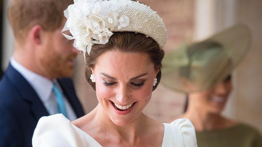 Herzogin Kate an Prinz Louis' Taufe