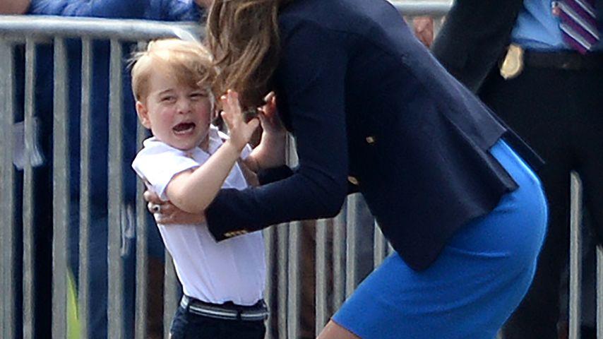 Herzogin Kate mit ihrem Sohn Prinz George in Gloucestershire