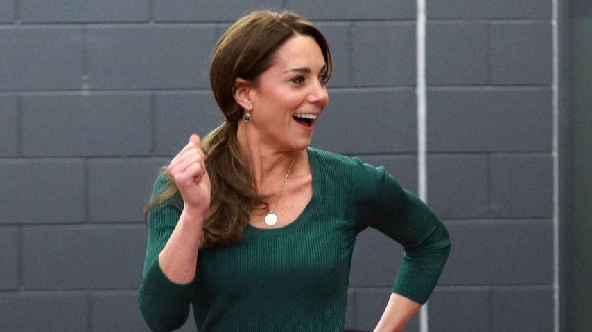 Herzogin Kate bei einem SportsAid-Event in Stratford im Februar 2020