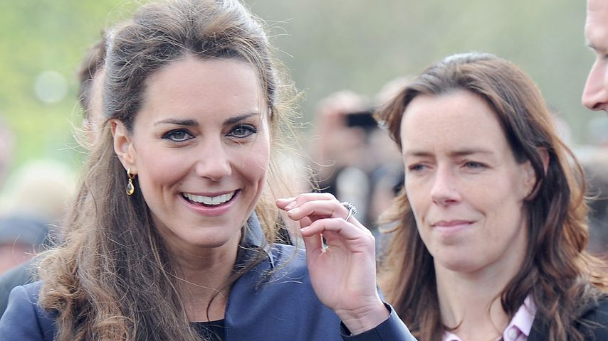 Herzogin Kate mit ihrer Leibwächterin Emma