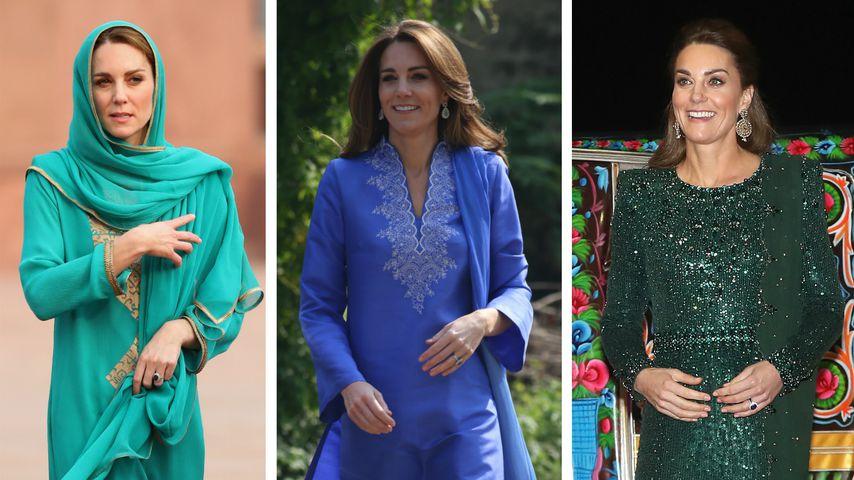 Das waren Kates schönste Looks auf der Pakistan-Reise!