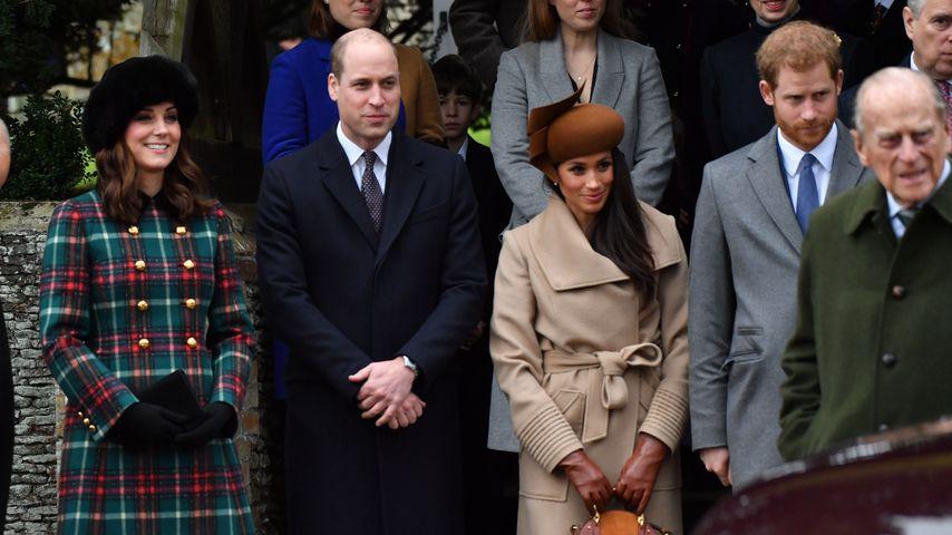 Herzogin Kate, Prinz William, Meghan Markle und Prinz Harry bei der royalen Weihnachtsmesse