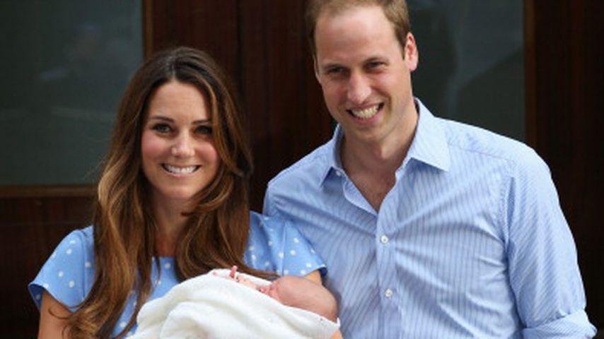 Herzogin Kate und Prinz William zeigen zum ersten Mal ihren Sohn Prinz George