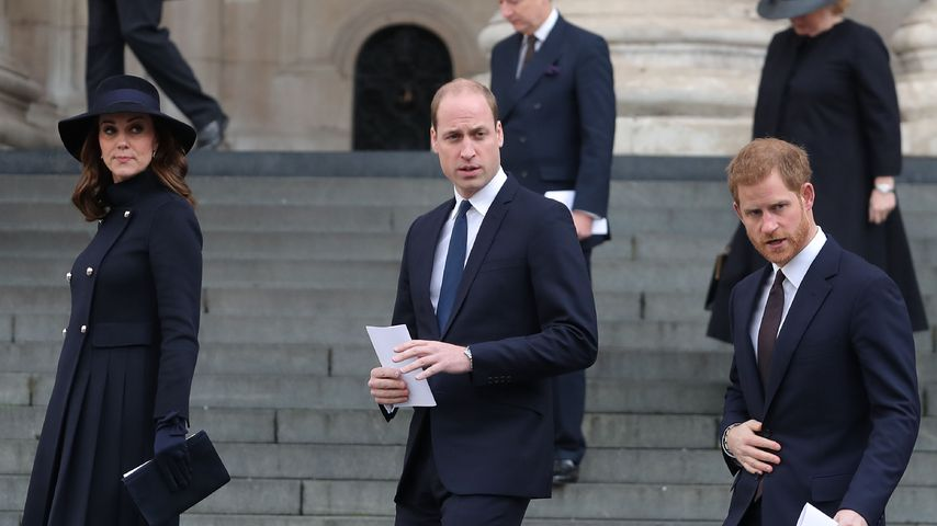 Herzogin Kate, Prinz William und Prinz Harry in der St.-Pauls-Kathedrale in London