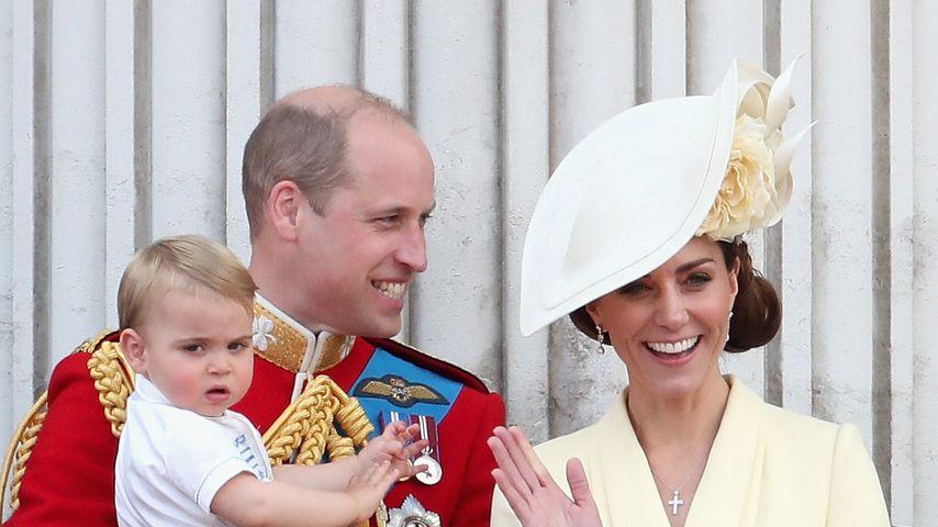 Herzogin Kate mit Prinz William und den drei Kindern, Juni 2019