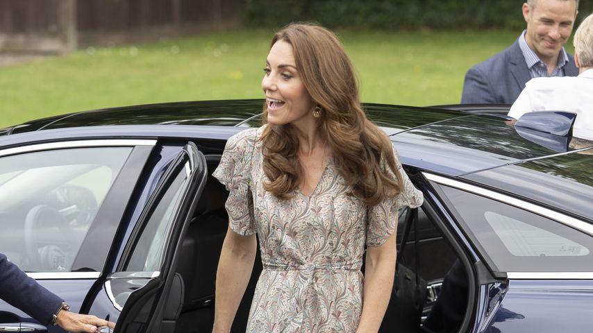 Herzogin Kate bei ihrer Ankunft beim Fotografie-Workshop im Juni 2019