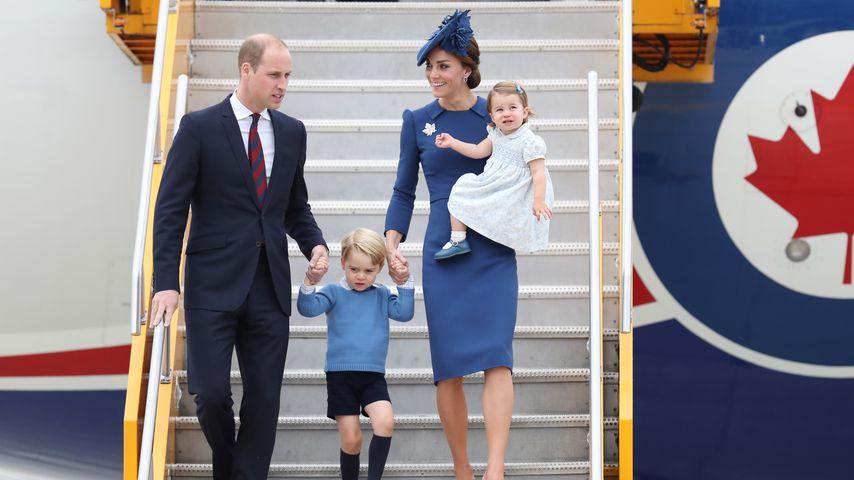 Herzogin Kate mit Prinz William, Prinz George und Prinzessin Charlotte, September 2016