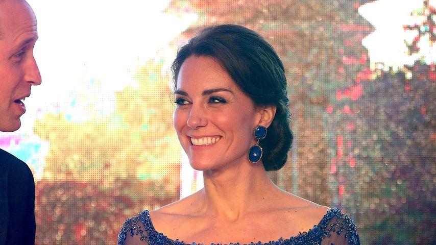 Bollywood-Glamour: Herzogin Kate lacht Baby-Sehnsucht weg