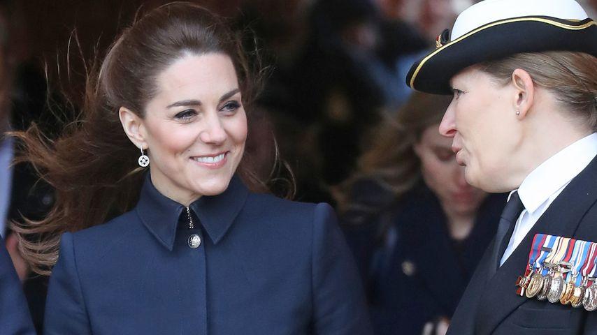Herzogin Kate: Schmale Taille trotz des winterlichen Outfits