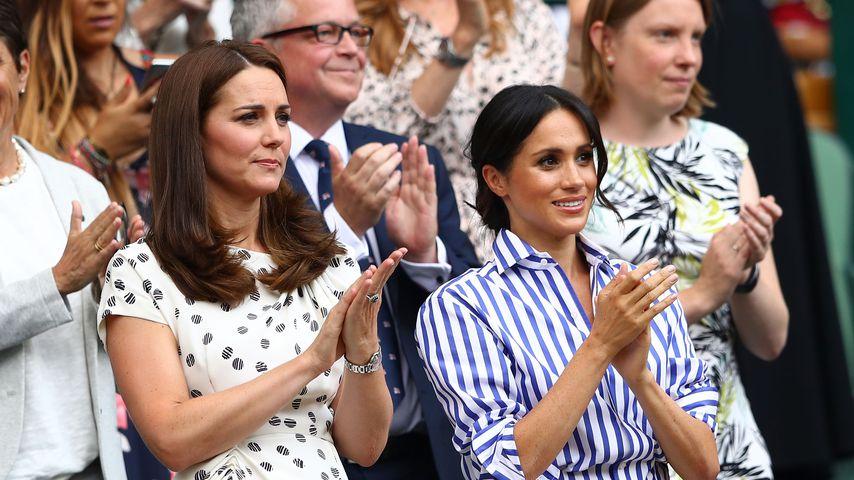 Herzogin Kate und Herzogin Meghan beim Wimbledon-Turnier 2018