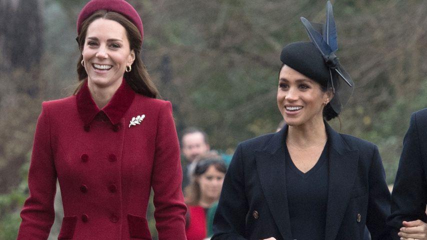 Herzogin Kate und Herzogin Meghan im Dezember 2018 in Sandringham