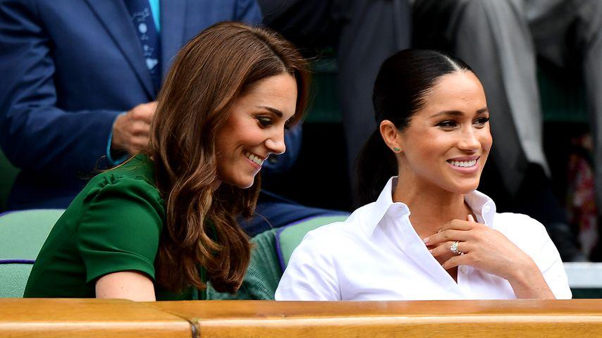 Herzogin Kate und Herzogin Meghan im Juli 2019 beim Wimbledon-Finale
